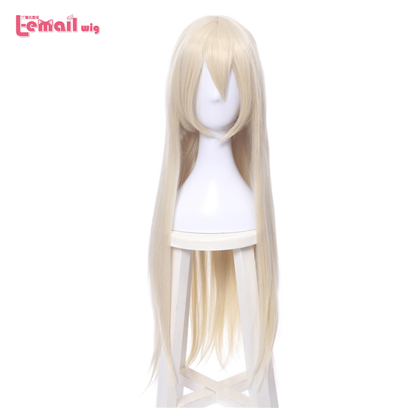L-email Wig Game Character 2A Cosplay Wigs 80cm 31.49inches Long Heat Resistant Synthetic Hair Perucas Cosplay Wig