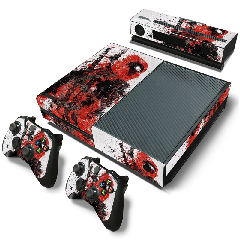 Marvel Deadpool Skin Sticker Decals Cover for Xbox One Console Kinect Controller #TN-Xboxone-0667