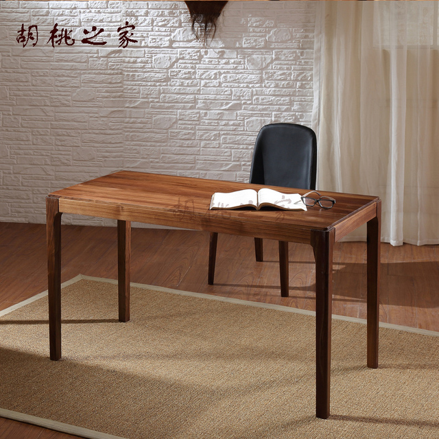Pure black walnut wood desk computer desk table simple wood furniture is  new hot special offer