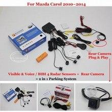 For Mazda Carol 2010~2014 – Automotive Parking Sensors + Rear View Digicam = 2 in 1 Visible / BIBI Alarm Parking System