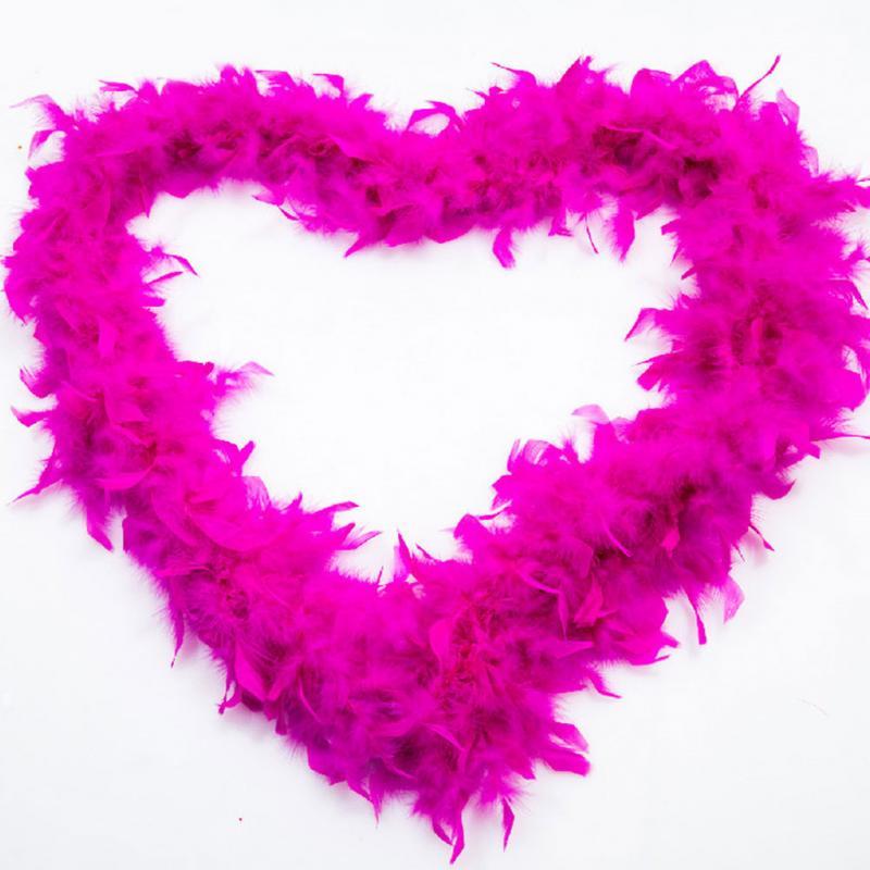 5Pcs Fluffy Feather Boa Strip-Fancy Makeup Party Wedding Xmas-Decoration 2M US!