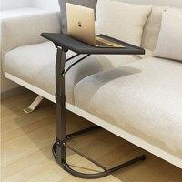 Подъемный передвижной стол складной стол складной компьютерный стол регулируемый и портативный ноутбук стол поворот ноутбук кровать Tablek 43...