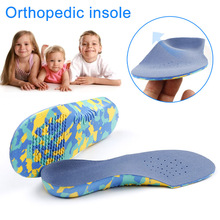 1 пара, Детские стельки для плоскостопия, ортопедические стельки для обуви, стельки для поддержки стопы, облегчающие боль, спортивная обувь