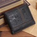 Fashion PU leather men's wallets big capacity men's purses short style leisure Tri-fold card wallets GUBINTU brand JM-01379