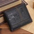 Moda cuero de la PU hombres carteras grandes hombres de la capacidad de bolsos de ocio de estilo corto de tres pliegues carteras de tarjetas GUBINTU marca JM-01379