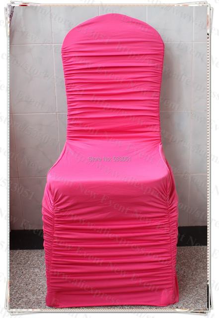 Hot Pink Spandex Chair Covers Chromcraft Parts Sale Color Ruffled Cover Ruffle Lycra For Wedding