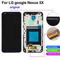 Replacment lcd completo para lg google nexus 5x h790 h791 lcd screen display touch screen digitador com a montagem do quadro