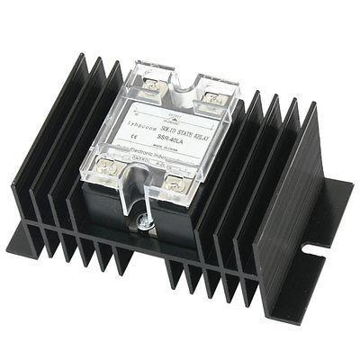 SSR-40LA 4-20mA to AC28-280V 40A One Phase Aluminum Heatsink Solid State Relay high quality ac ac 80 250v 24 380v 60a 4 screw terminal 1 phase solid state relay w heatsink