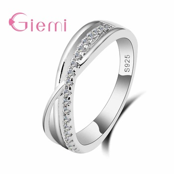 Cubic Zirconia Rings For Women Filled Crystal Type Trendy Fashion 925 Sterling Silver Rings Jewelry Bijouterie Wholesale
