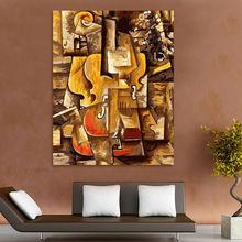 картины по номерам на холсте Раскраска по номерам Пикассо скрипка цифровой краски по номерам абстрактная живопись маслом модульная живописи современный домашний декор картина на стену