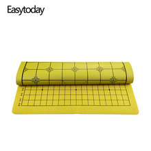 Easytoday Chinese Chess Board Synthetic Leather Go Game Chessboard Two In One Soft Cloth High Quality Accessories