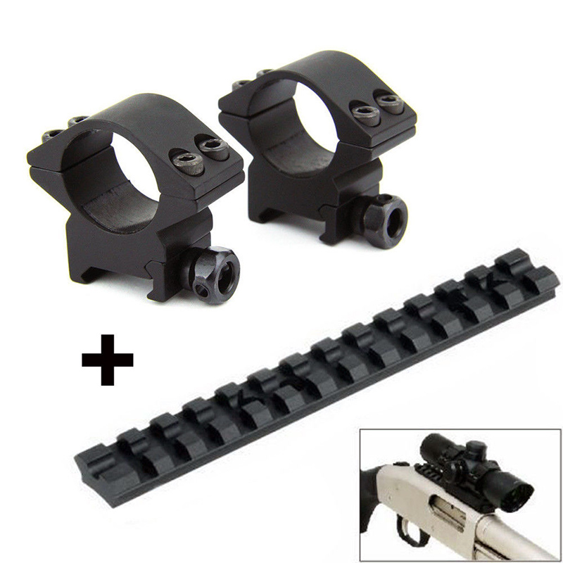 Tactical 88 Shotgun Mossberg 500/590/835 Picatinny Weaver Targeted Track Mount and Slim 1 Rifle Scope Mount Ring