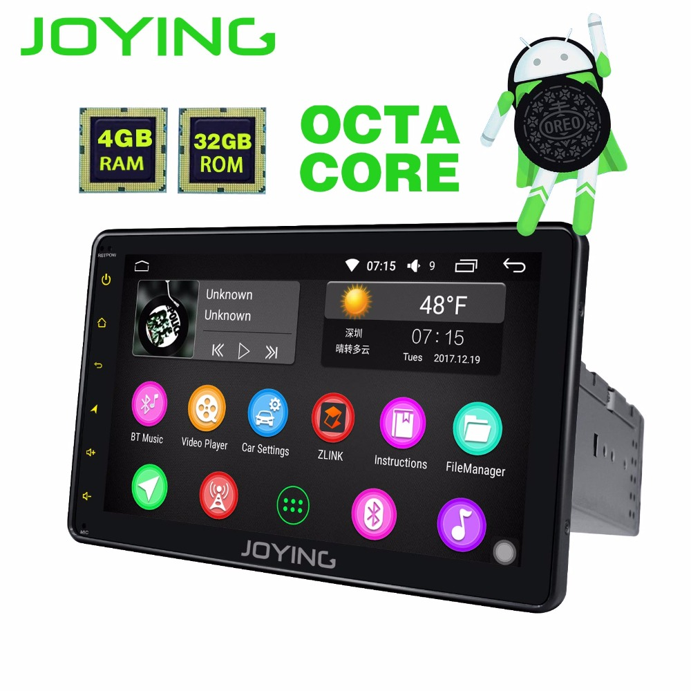 JOYING 1 din 8'' touch screen android 8.0 autoradio 4GB RAM stereo bluetooth audio head unit GPS HD tape recorder with carplay joying 2gb hd 10 touch screen 2din android 8 0 car auto radio stereo audio steering wheel head unit gps tape recorder free obd