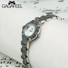 b2ab20e73c39 Gagafeel 100% 925 plata esterlina para las mujeres cuarzo reloj señora mujer  elegante thail plata