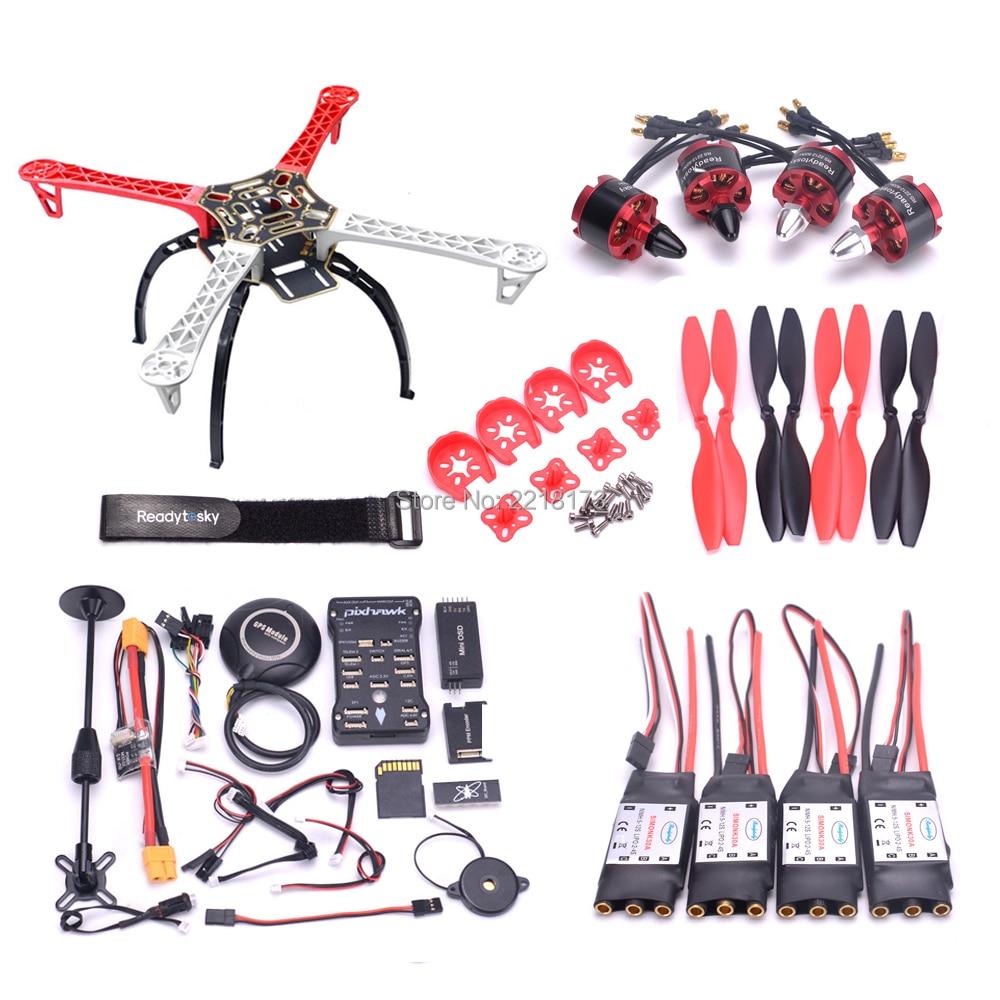 F450 / S500 500 PCB Quadcopter Frame Kit Pixhawk PIX 2.4.8 Controller board M8N GPS Mini OSD PM 2212 920kv motor 30A simonk ESC