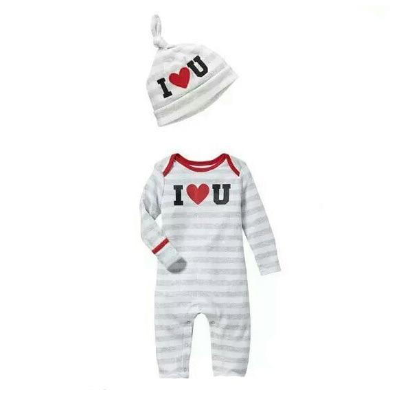 3 PIECES/ LOT 100% Cotton Unisex Baby Romper+Hat Red Heart Printing Cotton Infant Caps Jumpsuit Set Infant High Quality Clothes матрас в коляску esspero baby cotton lux heart 5122621