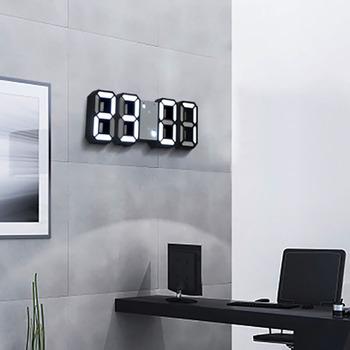 Zegar cyfrowy zegar ścienny 3D zegar z wyświetlaczem led elektroniczny zegar na biurko Horloge Alarm Nightlight zegarek do domu dekoracja biurowa tanie i dobre opinie DIGITAL Zegary biurkowe Z tworzywa sztucznego Kalendarze E0097 230g 225mm Plac 35mm 22 5cm x 8cm Each Scene Desk Clock Table Clock
