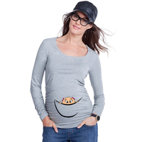 New Design High Quality 100% Cotton Maternity Shirt
