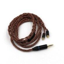 Linsoul HC-08 HiFi OCC Fios 8 19 Núcleo Trançado Cabo para Audiófilo IEM Earbud do Fone de ouvido 3.5mm/2.5mm MMCX equilibrada