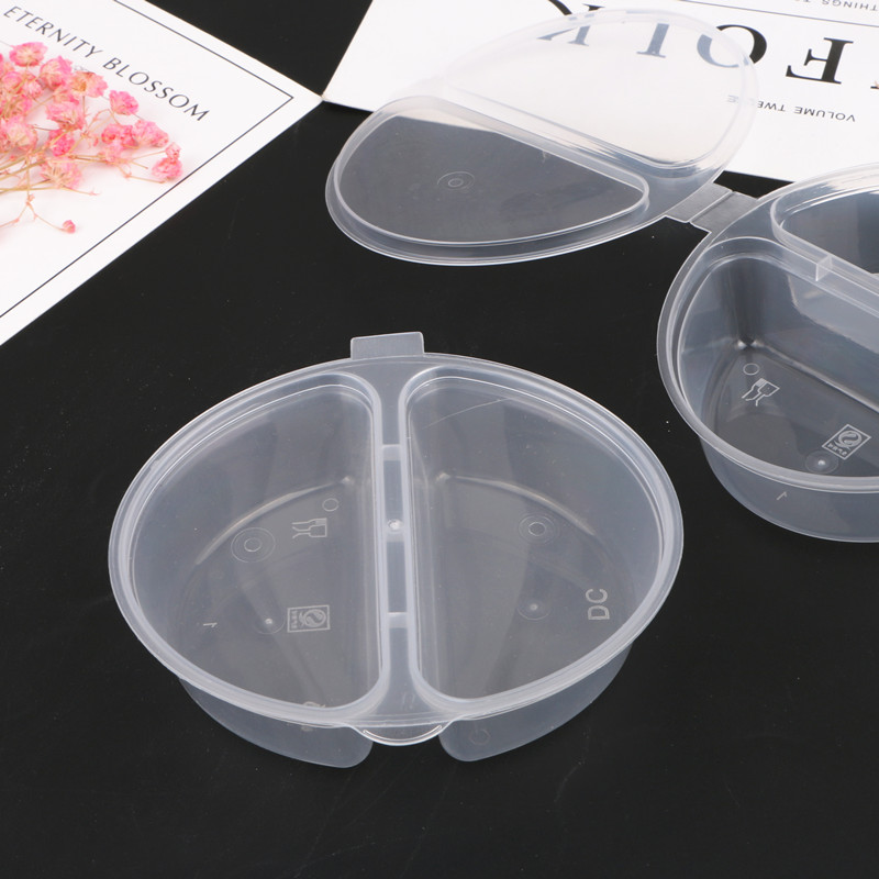 Boxi  100ml 30pcs/Lot Slime Box Container Plastic Transparent PP Storage Box For Fluffy Cloud Clear Slime In Stock