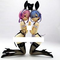 1/4 Scale Re:Life In A Different World From Zero Rem Ram Bunny Ver Kneeling Ver Resin Naked Collection anime figures