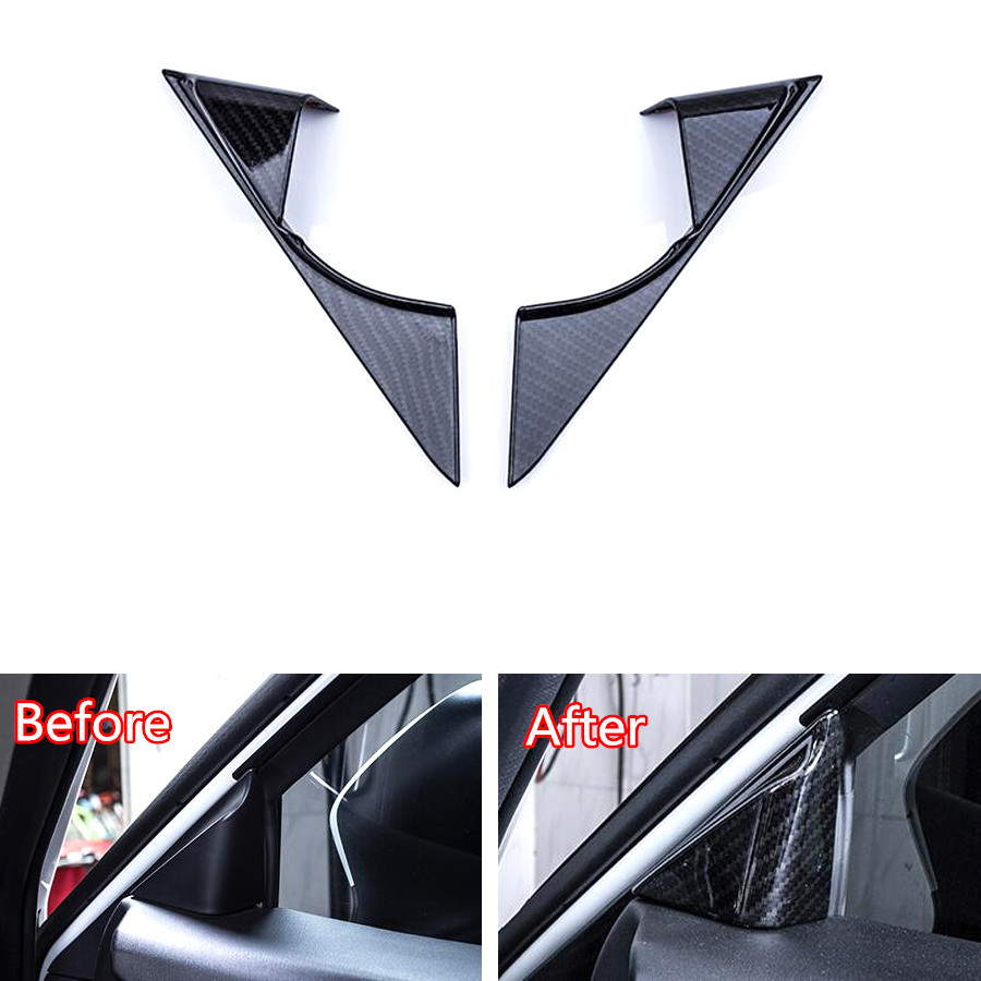 YAQUICKA For Mazda 6 Atenza 2017 2018 Carbon Fiber Style Car Interior Door A Pillar Cover Stickers Styling Mouldings Accessories