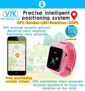Image 4 - V7k ילדים GPS שעון חכם תינוק שעון לילדים Smartwatch ילד שעון מיקום SOS Antil אבוד שיחת Tracker 2G כרטיס PK Q528 Q80