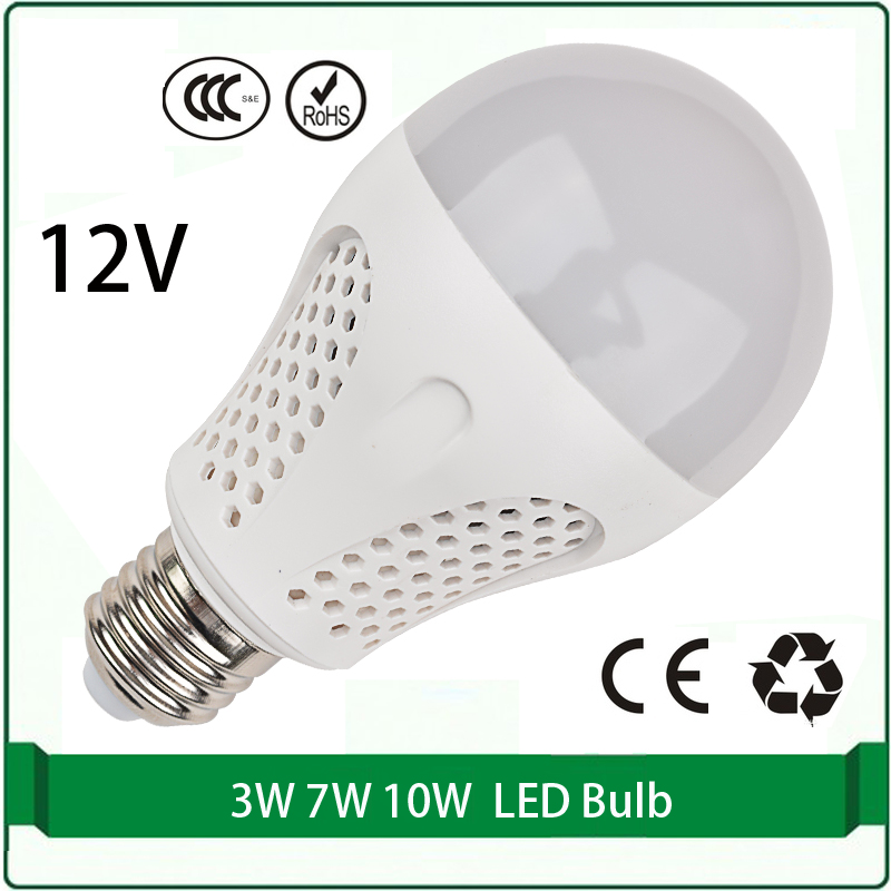 e27 12 volt dc led bulbs 3w 7w 10w bulb solar panel bulb 12 volt led