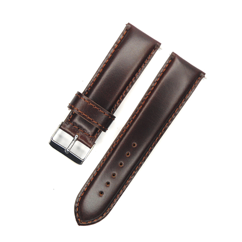 aad8a393443 Detail Feedback Questions about Italy Oil Calf Genuine Leather Watch Band  24mm Dark Brown Vintage Watch Strap For any suitable watches Mens on ...