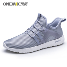 Onemix 2018 men and women running shoes sneakers super light elastic soft outsole for outdoor walking Size 35-46