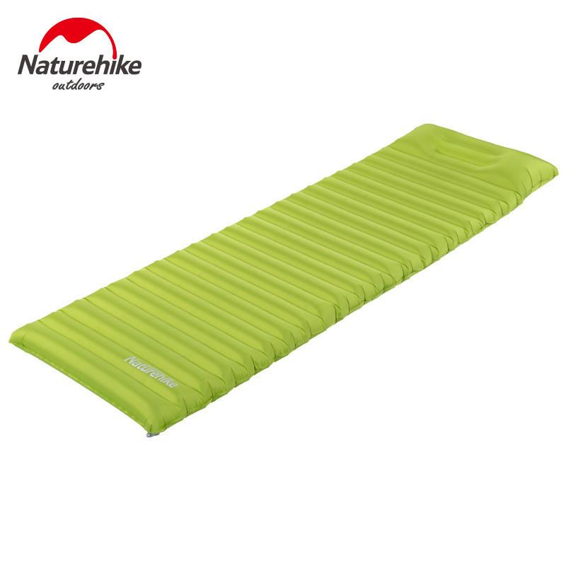 Prix pour Naturehike innovante de couchage pad rapide de remplissage air sac super léger gonflable matelas avec oreiller Étanche tapis de pliage 550g