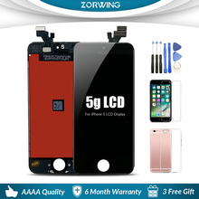 Hot Sale High Quality AAA Replacement Screen LCD For iPhone 5 Display With LCD Digitizer Touch Screen Assembly in Black White цена