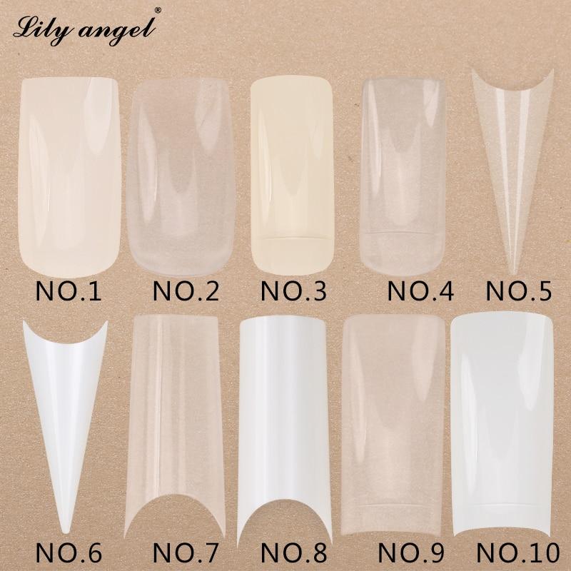 500 Pcs/set Transparent White False Nail Art Design Tips French Acrylic Polish UV Gel Sticker Salon Design Manicure Tools