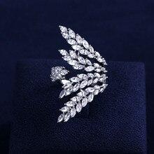 Модные женские ювелирные изделия ручной работы Кубического Циркония Круглый камень кольцо белого золота цвета кольца с сияющими Австрийскими кристаллами