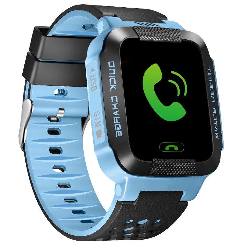 imágenes para Nueva T7 Perdido Anti de alta calidad Niño SOS Monitoreo Inteligente Posicionamiento LBS Niños pantalla táctil Reloj Compatible con IOS y Android