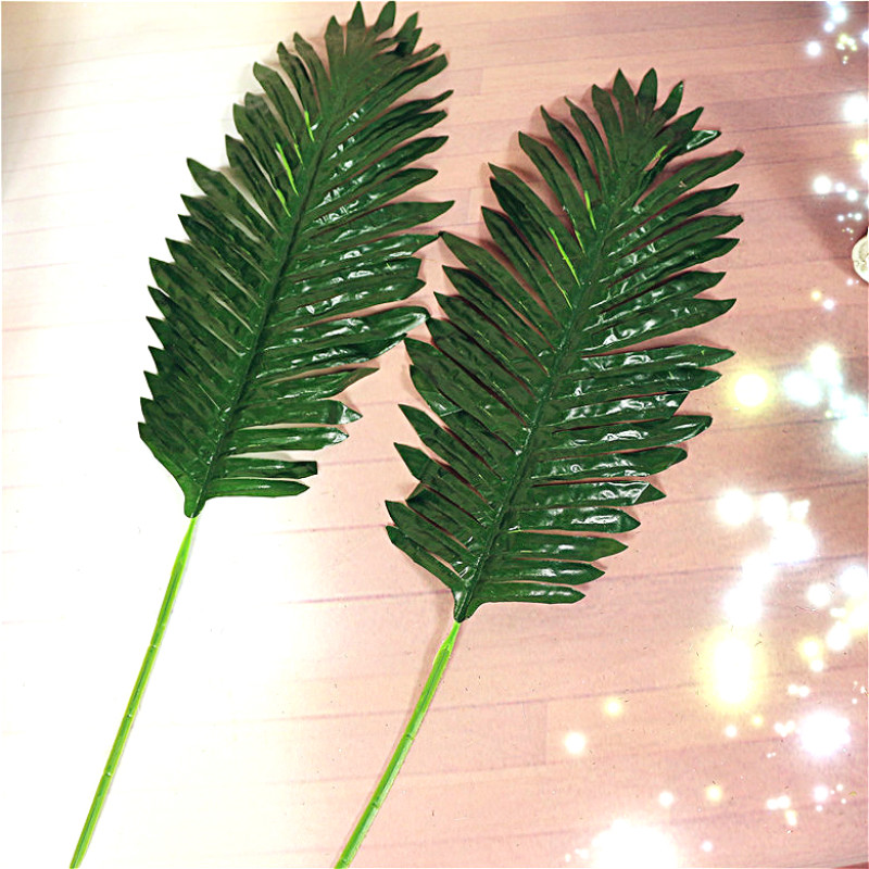 10pcs Artificial Leaves Simulation Foliage Plants Fake Palm Tree Leaf Green/Light green Greenery Floral Arrangement Accessory