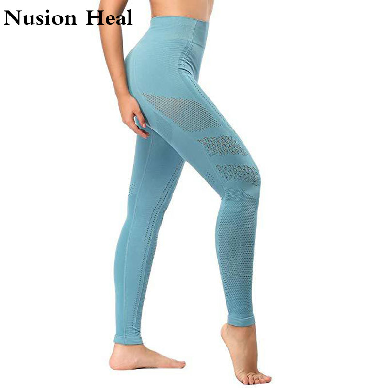 Traditional & Cultural Wear Shoopbadoop New Seamless Leggings Sport Women Yoga Pants High Waist Fitness Gym Tights Push Up Eyelet Knit Active Wear Leggings Novelty & Special Use