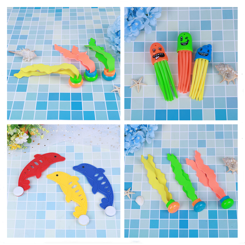 1/3pcs Summer Shark Torpedo Rocket Throwing Toy Funny Swimming Pool Diving Game Toys For Children Dive Dolphin Accessories Toy