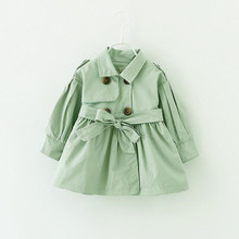 2017 Spring Autumn Baby Girl Jacket Candy Color Girls Windbreaker Lantern Sleeve Kids Coat Children Jackets Infant Outerwear