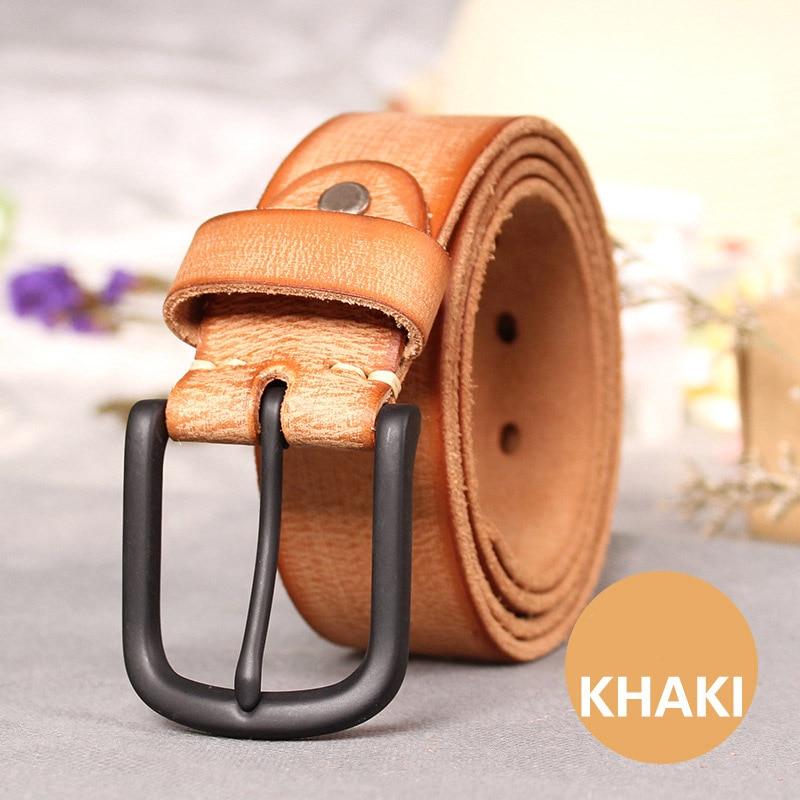 Image 4 - Top Cow genuine leather belts for men jeans Do old rusty black buckle retro vintage mens male cowboy belt ceinture hommeleather belts for mengenuine leather beltleather belt -