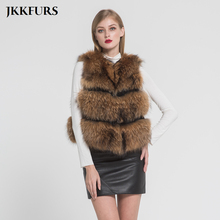 2019 Real Raccoon Fur Gilet Womens Fashion Style Vest Winter Thick Warm Best Quality New Arrival Wholesale Retail S7093