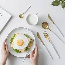 2019 best-selling 304 Stainless Steel Western Silverware Cutlery Set Noble Fork Knife Dessert Dinnerware Kitchen Food Tableware цена и фото