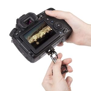 """Image 5 - อุปกรณ์เสริม 1/4 """"สกรูอะแดปเตอร์ + เชื่อมต่อตะขอสำหรับสลิงอย่างรวดเร็วสายคล้องไหล่เข็มขัดกล้อง DSLR กระเป๋ากรณี"""