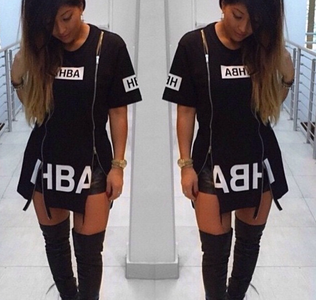 2016 New T Shirt Dress Cotton Black Print Sexy bodycon bandage Party Club  Dress Casual Outfit Plus Size 0ae0b6a0b