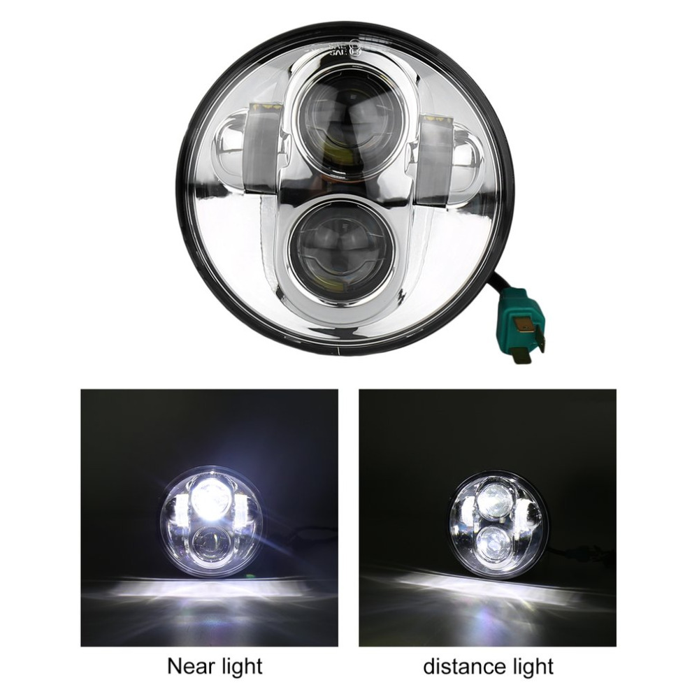 ICOCO 5.75 Inch LED Motorcycle Headlight Spot Light Motorbike Projector With Low Beam And High Beam Lights For Harley Davidson 12v led light auto headlamp h1 h3 h7 9005 9004 9007 h4 h15 car led headlight bulb 30w high single dual beam white light