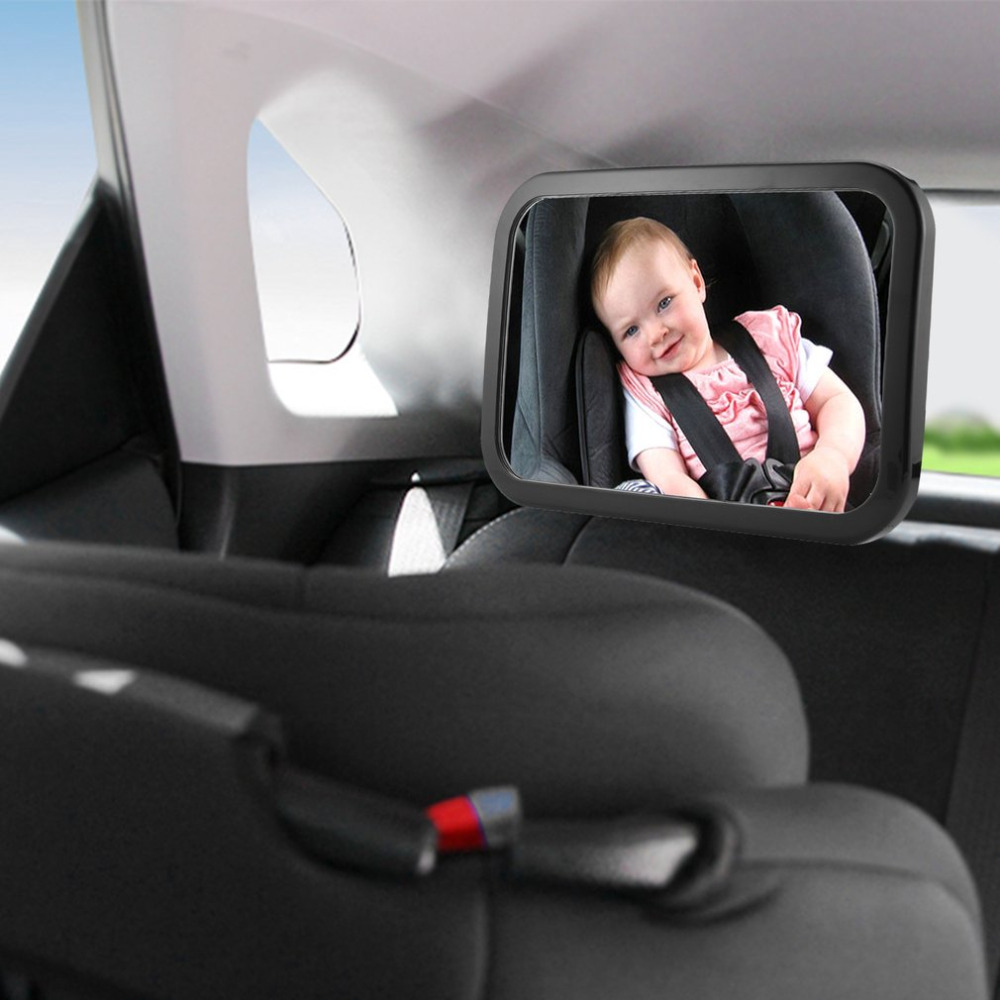 25.5*17.5cm Car Baby Safety Mirror 360 Degree Rotation Rear View Backseat Baby Mirror Infants Interior Monitor Reverse Mirror