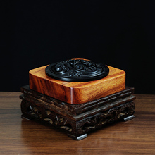 Wood carving censer Tan incense coil, ebony clouds openwork heavy oil burner sale