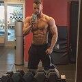 Fitness Men Gyms Shorts Bodybuilding Sportwear Workout jogger Shorts Knee Length 4 colors