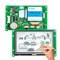 Nuevo 5 0 gráfico de TFT LCD Módulo de pantalla táctil y CPU y RS232 RS485 USB