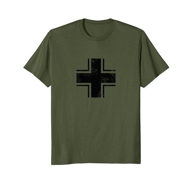 2018 Hot Sale 100% cotton German WWII Military Roundel Aviation Shirt Pilot  T-Shirt